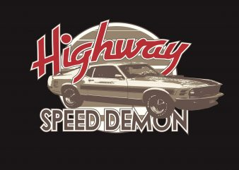 Highway Speed Demon graphic t shirt