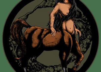 kentaur t shirt vector art