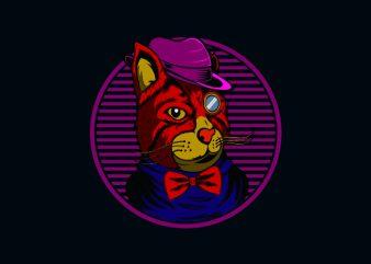 kitty illusiration buy t shirt design
