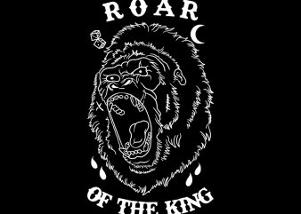 roar of the king tshirt design buy t shirt design