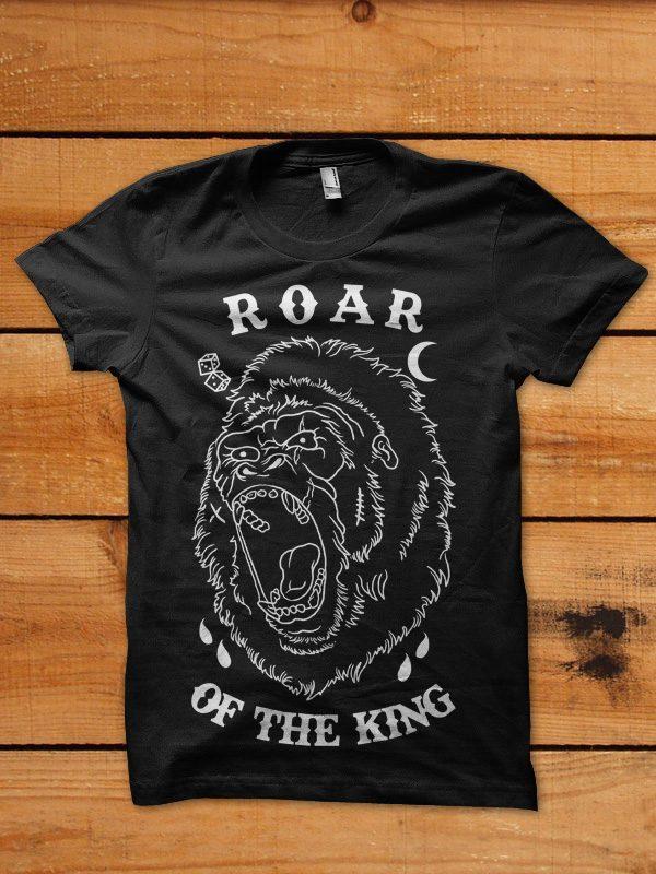 roar of the king tshirt design buy t shirt design