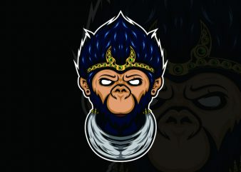 monkey king t shirt designs for sale