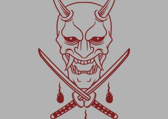 oni katana t-shirt design buy t shirt design