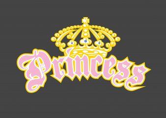 Princess t shirt illustration