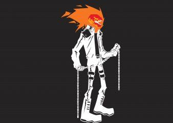 Ghost Rider t shirt design template