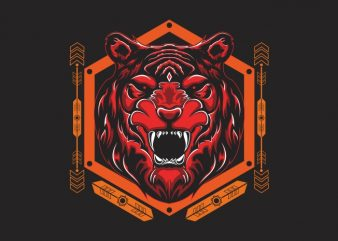 tiger head sacred geometry buy t shirt design