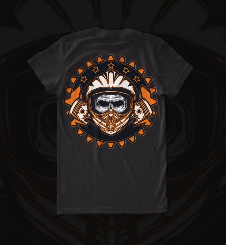 dead skull motocross buy t shirt design