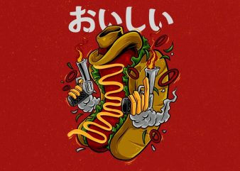 cowboy hotdog Graphic t-shirt design buy t shirt design