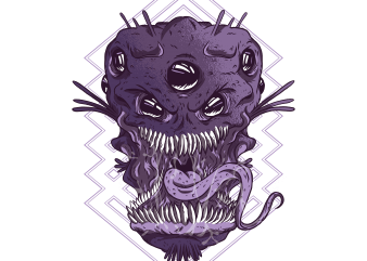 Alien Monsters Head buy t shirt design