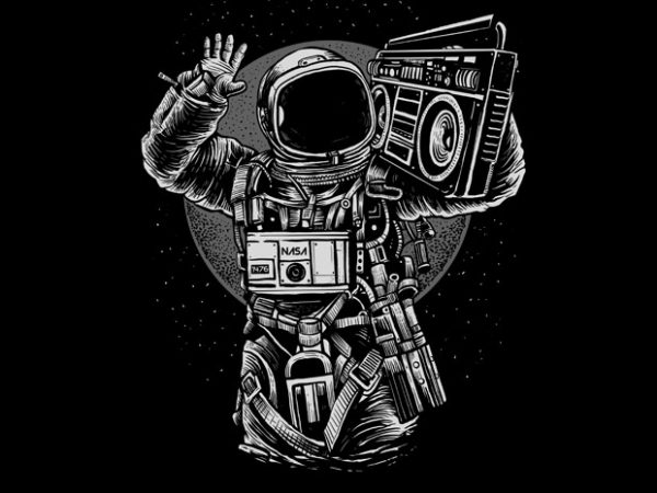 Astronaut Boombox buy t shirt design