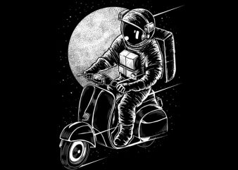 Astroscooter t shirt vector