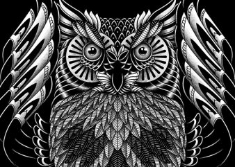 Owl Skull Ornate buy t shirt design