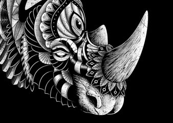 Rhino Ornate buy t shirt design