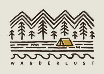 Wanderlust buy t shirt design