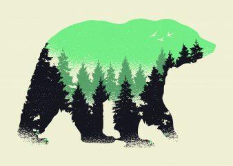 Bear Forest buy t shirt design