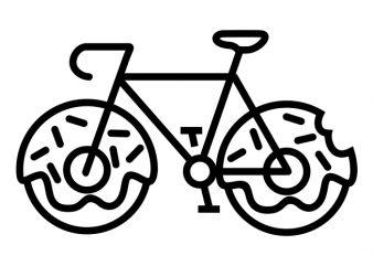 Bicycle Donuts t shirt vector