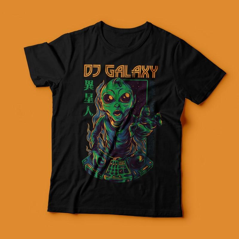 DJ Galaxy T-Shirt Design buy t shirt design