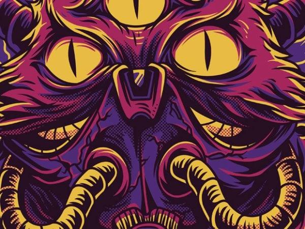 The Cat Monster T-Shirt Design