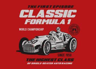 Classic F1 buy t shirt design
