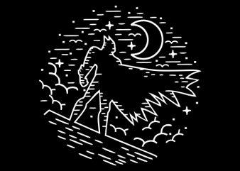 Darkest Night t shirt vector illustration
