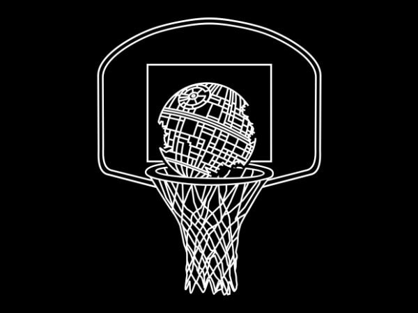 Death Basketball t shirt vector illustration
