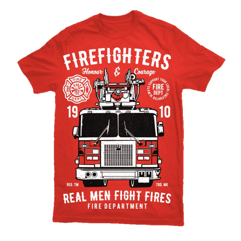 Firefighters Truck Vector t-shirt design buy t shirt design
