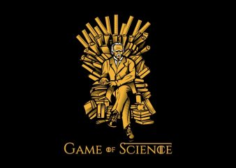Game of Science t shirt design template