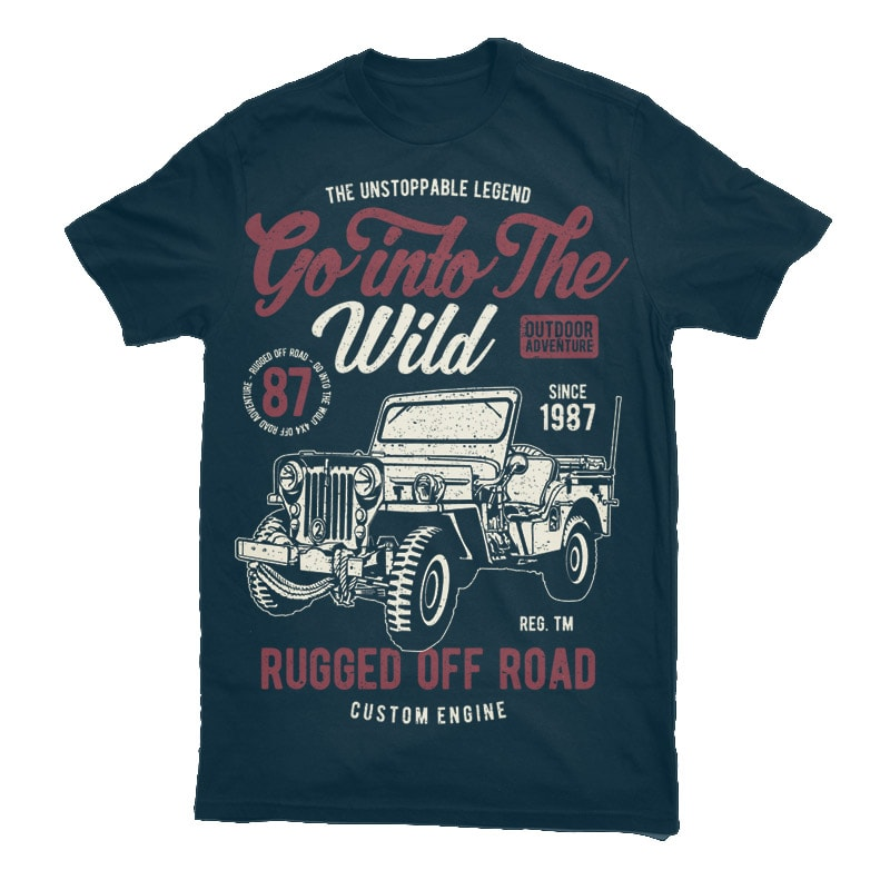 Go Into The Wild Vector t-shirt design buy t shirt design