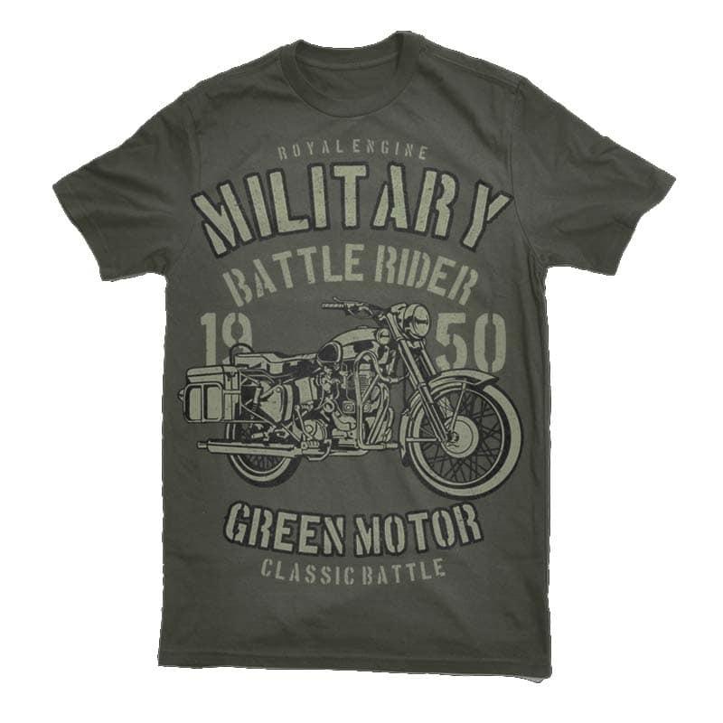 Green Military Ride Graphic t-shirt design buy t shirt design