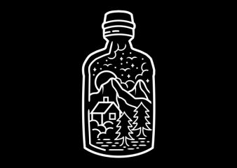 In The Bottle t shirt design for sale