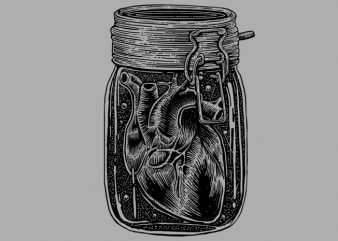 Jar Of Heart Tshirt Design