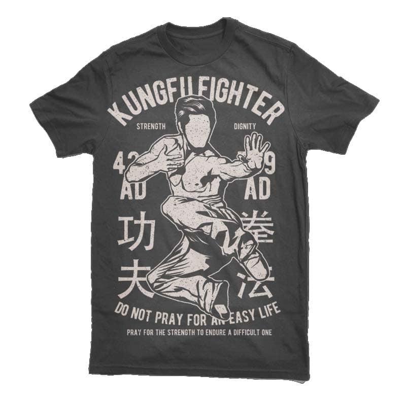 Kungfu Fighter Graphic t-shirt design buy t shirt design