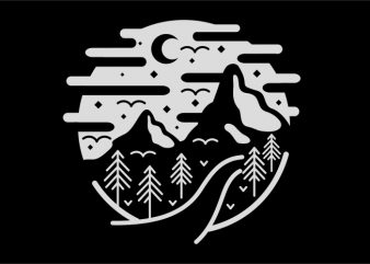Mountain t shirt designs for sale