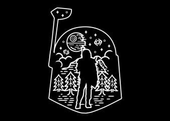 Nature Hunter t shirt vector artwork