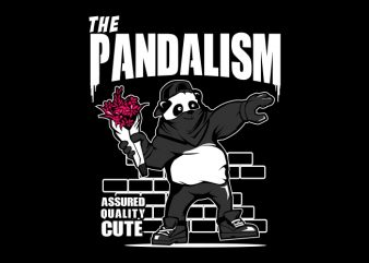 PANDALISM t shirt illustration