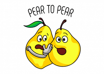 Pear to pear funny business and technical pun graphic t shirt design