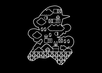 Pipe World t shirt illustration