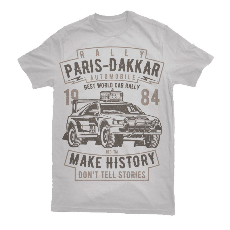 Rally Paris Dakar Automobile Vector t-shirt design buy t shirt design