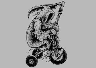 Reaper Bike Tshirt Design