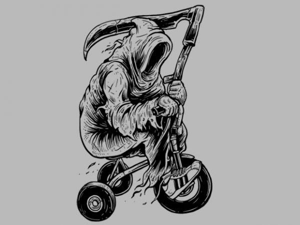 Reaper Bike Tshirt Design