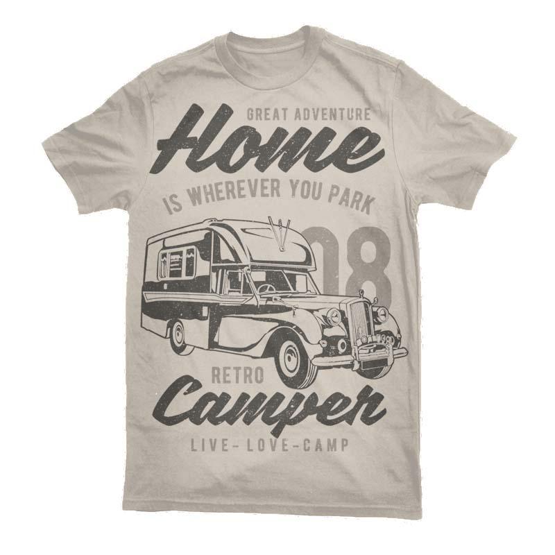 Retro Campers Vector t-shirt design buy t shirt design