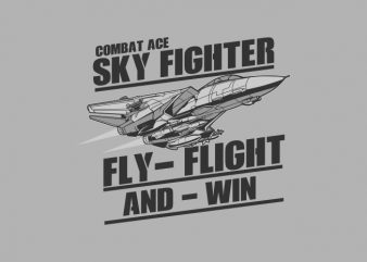 SKY FIGHTER buy t shirt design