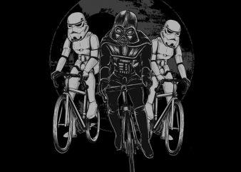Star Bikers t shirt vector