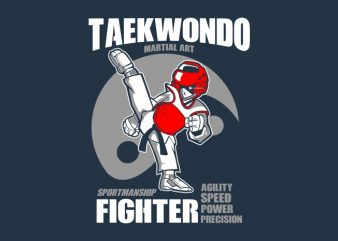 TAEKWONDO GEAR FIGHTER t shirt designs for sale