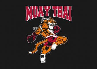 TIGER MUAY THAI t shirt designs for sale