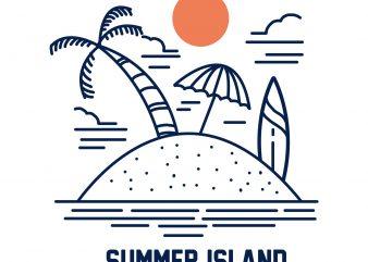 summer island tshirt design buy t shirt design