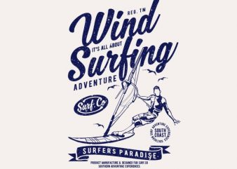 Wind Surfing Vector t-shirt design buy t shirt design