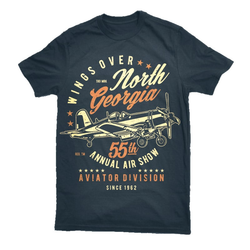 Wings Over North Georgia Vector t-shirt design buy t shirt design