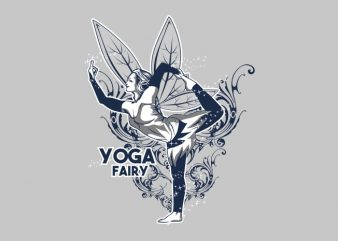 YOGA FAIRY buy t shirt design