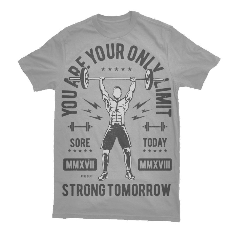 You Are Your Only Limit Vector t-shirt design buy t shirt design